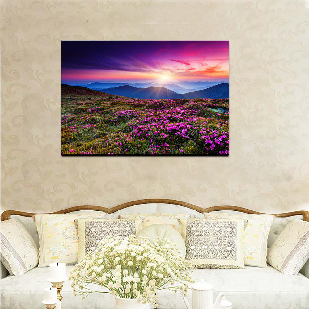 Beautiful Scenery Mountain Flower Sea Picture Print Modern Wall Art On Canvas Unframed
