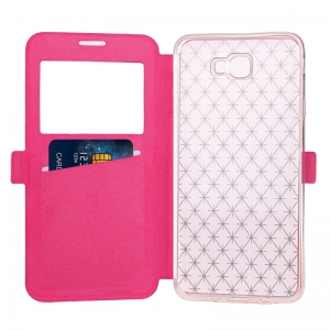 Yc Lingogwen Window Card Lanyard Pu Leather for Samsung J5 Prime -