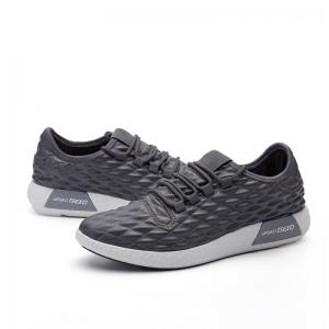 Checked and Solid Color Sport Shoes - GRAY 42