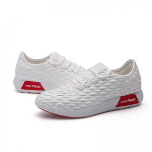 Checked and Solid Color Sport Shoes - WHITE 43