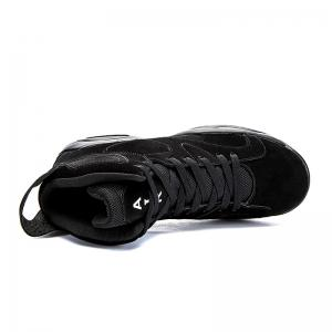 High Top Breathable Basketball Shoes - BLACK 43