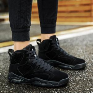 High Top Breathable Basketball Shoes - BLACK 42