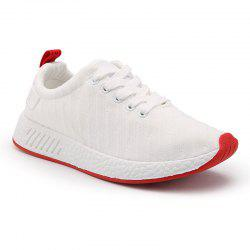 Color Block Knited Sport Shoes - WHITE 41
