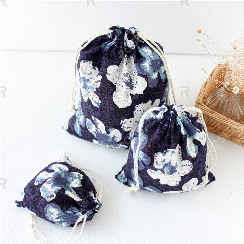 Outfit 3pcs Kapok printed Cotton Flax Tea Bag Storage Pouch