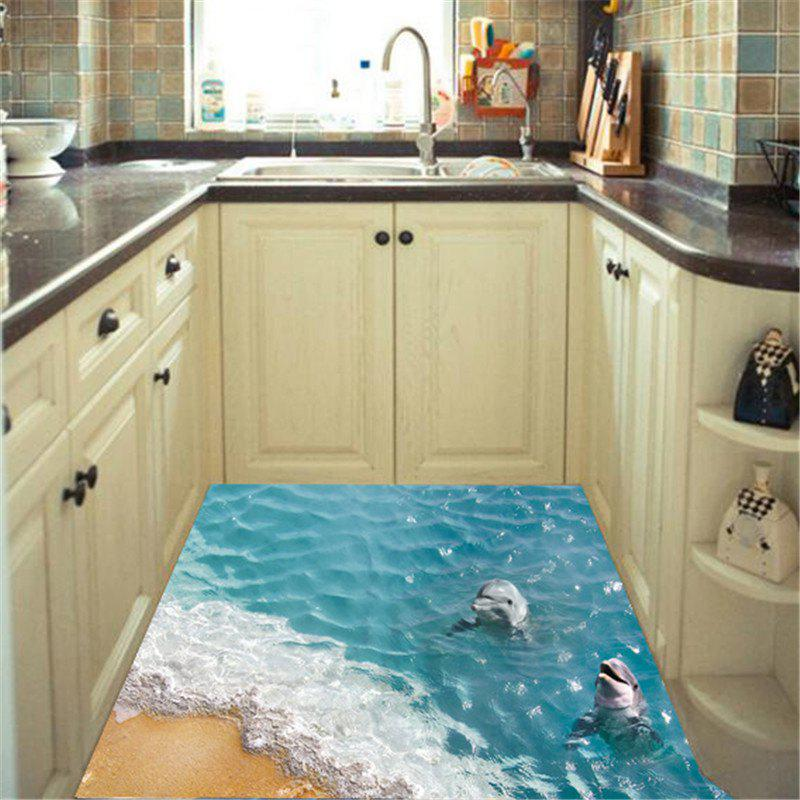 Home Decoration 3D Beach Dolphin wall StickersHOME<br><br>Color: COLORMIX;