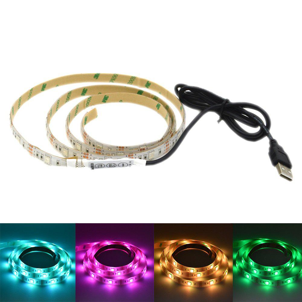 USB Powered 1M 5050 RGB 30 LEDs Strip Light for Background Decor with 44 Key Remote ControlHOME<br><br>Color: BLACK WHITE; Type: LED Strip Light; Length ( m ): 1; Light color: RGB; Wattage (W): 40W; Voltage: DC 5V; Power Supply: USB Cable; Features: Festival Lighting; Waterproof Rate: IP65; Light Source: LED; Beam Angle: 120 Degree; LED Quantity: 30; Color Temperature or Wavelength: 625nm/520nm/455nm;