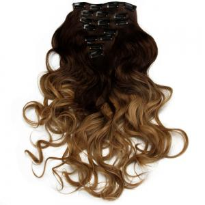 TODO 24inch Curly Ombre Style 7-Piece 16-Clip Hair Extensions - #3 24INCH