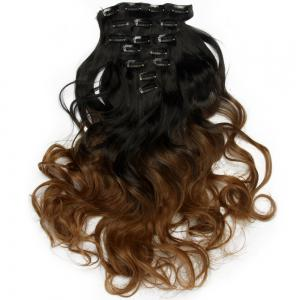 TODO 24inch Curly Ombre Style 7-Piece 16-Clip Hair Extensions - #8 24INCH