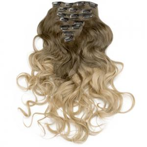 TODO 24inch Curly Ombre Style 7-Piece 16-Clip Hair Extensions -