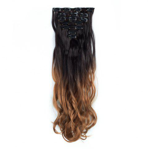 Outfit TODO 24inch Curly Ombre Style 7-Piece 16-Clip Hair Extensions #3 24INCH