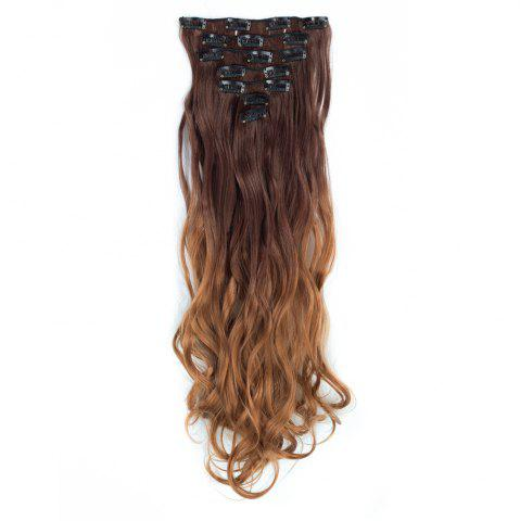 Outfits TODO 24inch Curly Ombre Style 7-Piece 16-Clip Hair Extensions #6 24INCH