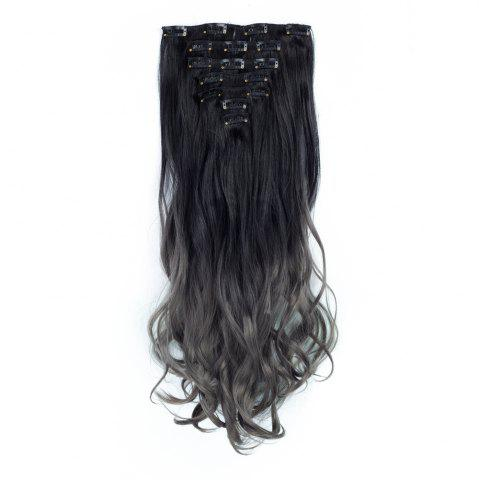 New TODO 24inch Curly Ombre Style 7-Piece 16-Clip Hair Extensions