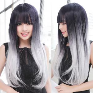 TODO Straight Ombre 7-Piece 16-Clip Clip-in Hair Extensions - #1 22pouces