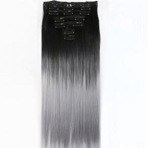 TODO Straight Ombre 7-Piece 16-Clip Clip-in Hair Extensions - #1 22INCH
