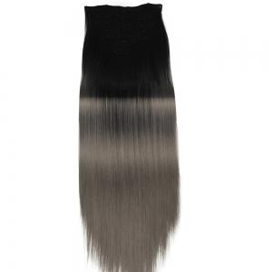 TODO Straight Ombre 7-Piece 16-Clip Clip-in Hair Extensions - #2 22INCH