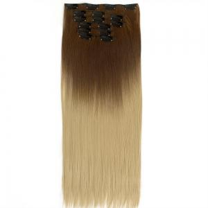 TODO Straight Ombre 7-Piece 16-Clip Clip-in Hair Extensions - #5 22INCH