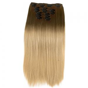 TODO Straight Ombre 7-Piece 16-Clip Clip-in Hair Extensions - #6 22INCH