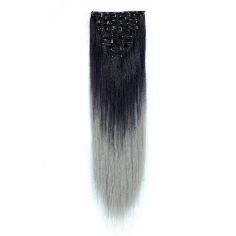TODO Straight Ombre 7-Piece 16-Clip Clip-in Hair Extensions #1 22pouces