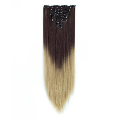 Chic TODO Straight Ombre 7-Piece 16-Clip Clip-in Hair Extensions #3 22INCH
