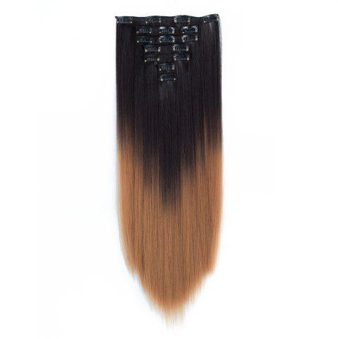 Latest TODO Straight Ombre 7-Piece 16-Clip Clip-in Hair Extensions