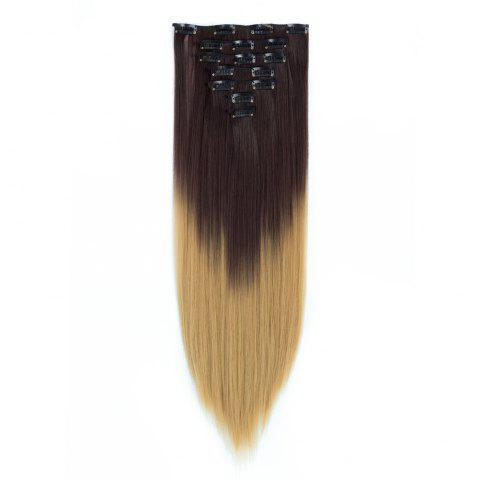 Affordable TODO Straight Ombre 7-Piece 16-Clip Clip-in Hair Extensions - 22INCH #5 Mobile