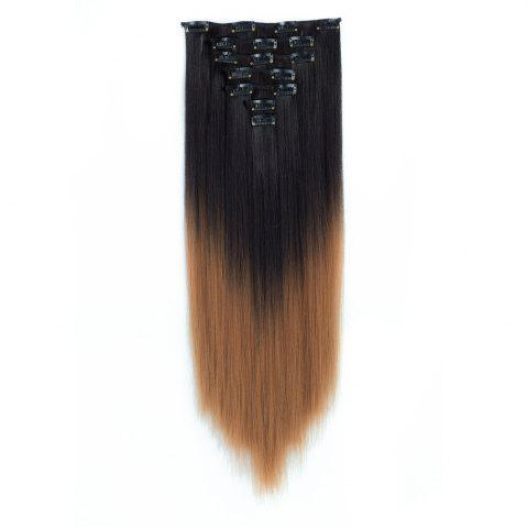 Cheap TODO Straight Ombre 7-Piece 16-Clip Clip-in Hair Extensions