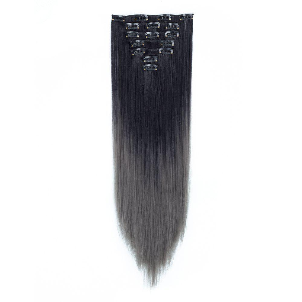 22inch Todo Straight Ombre 7 Piece 16 Clip Clip In Hair Extensions
