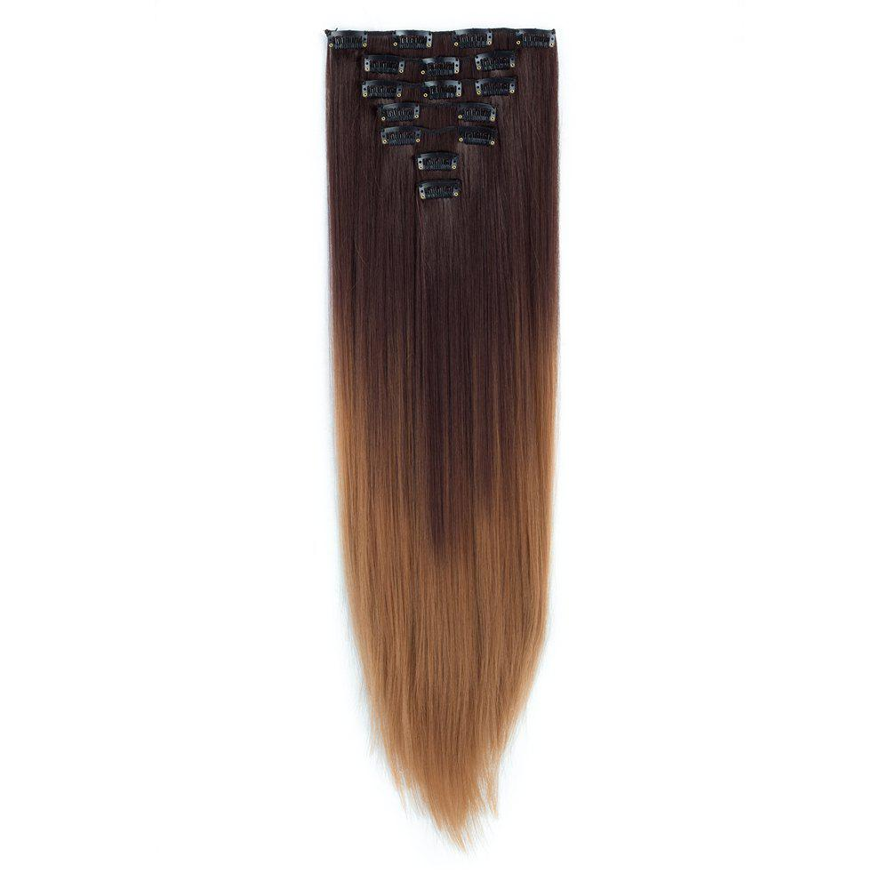 2018 Todo Straight Ombre 7 Piece 16 Clip Clip In Hair Extensions In
