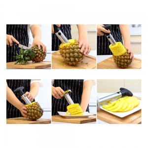 Domestic Stainless Steel Manual Operation Pineapple Peeler -