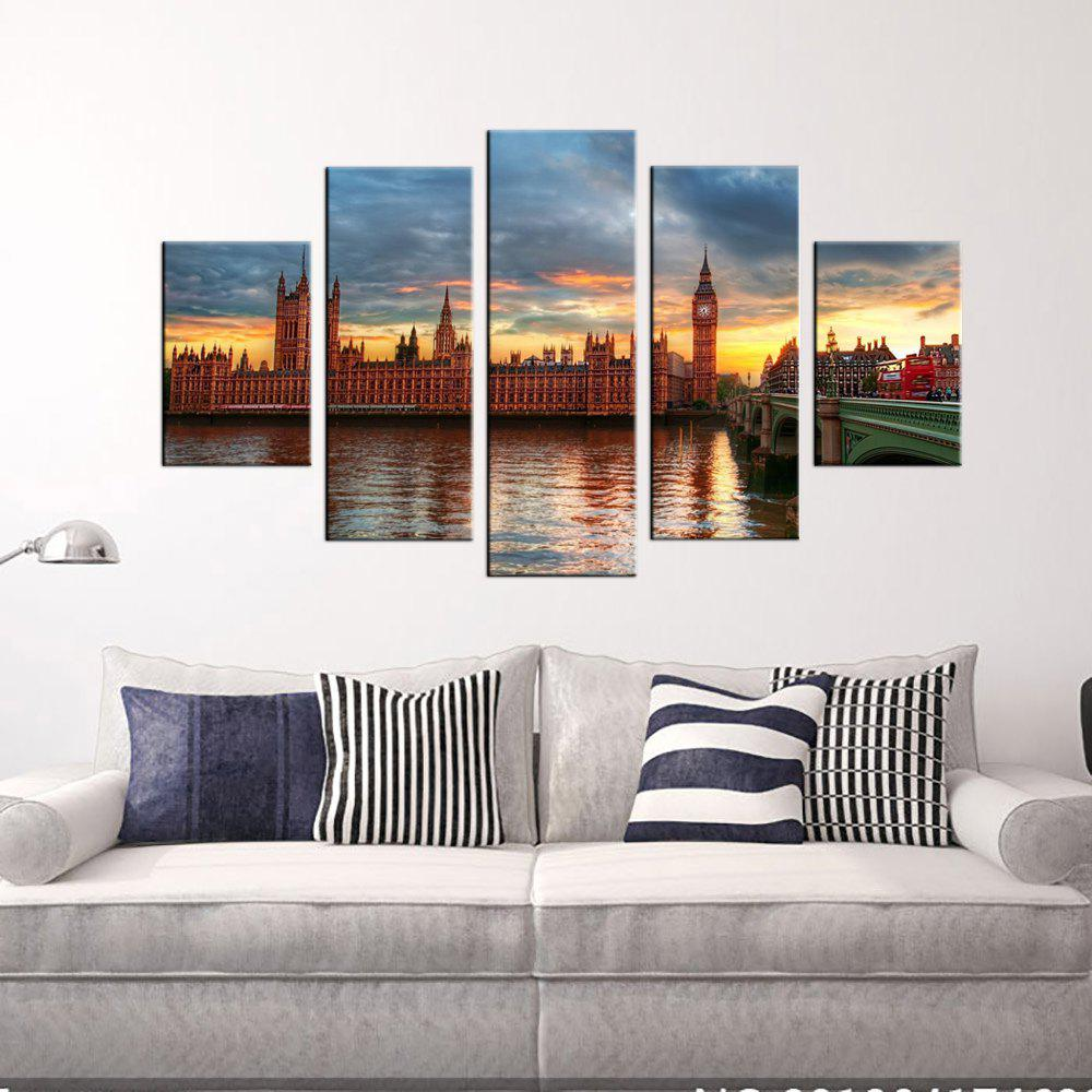 Yhhp British Architectural Landscape Picture Print Modern Wall Art On Canvas Unframed