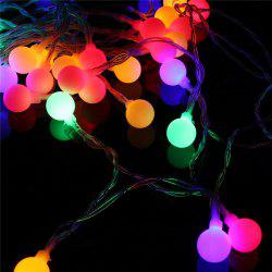 40-LED Grinding White Ball Christmastree String Lights Decorated Colored Lamp -