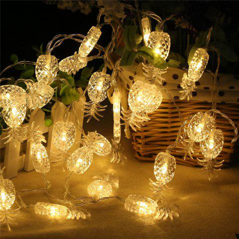 New 20-LED Pineapple Shaped Christmastree String Lights Decoration Colored Lamp - WARM WHITE LIGHT  Mobile