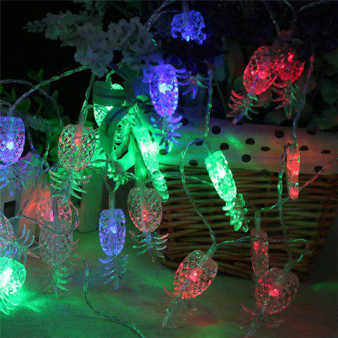 Shops 20-LED Pineapple Shaped Christmastree String Lights Decoration Colored Lamp - COLORFUL  Mobile