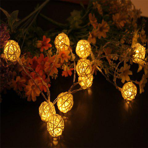 Outfits 40-LED Thai Rattan Christmas Tree Chandeliers String Lights Decorated Colored Lamp