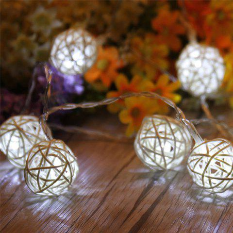 Hot 40-LED Thai Rattan Christmas Tree Chandeliers String Lights Decorated Colored Lamp WHITE