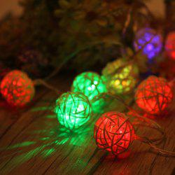 40-LED Thai Rattan Christmas Tree Chandeliers String Lights Decorated Colored Lamp -