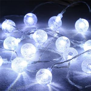 20-LED Bubble Ball Shaped Christmas Tree String Lights Decorated Colored Lamp - WHITE
