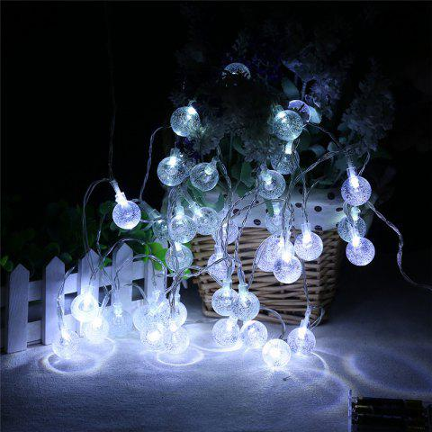 Sale 20-LED Bubble Ball Shaped Christmas Tree String Lights Decorated Colored Lamp WHITE