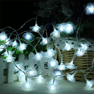 20-LED Rose Christmas Tree String Lights Decoration Colored Lamp -