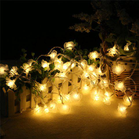 Discount 20-LED Rose Christmas Tree String Lights Decoration Colored Lamp