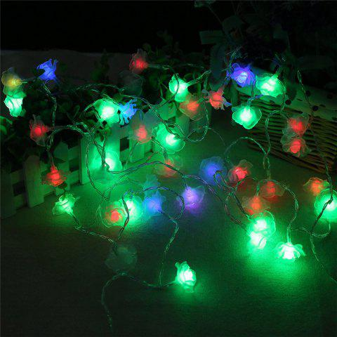 Hot 20-LED Rose Christmas Tree String Lights Decoration Colored Lamp COLORFUL