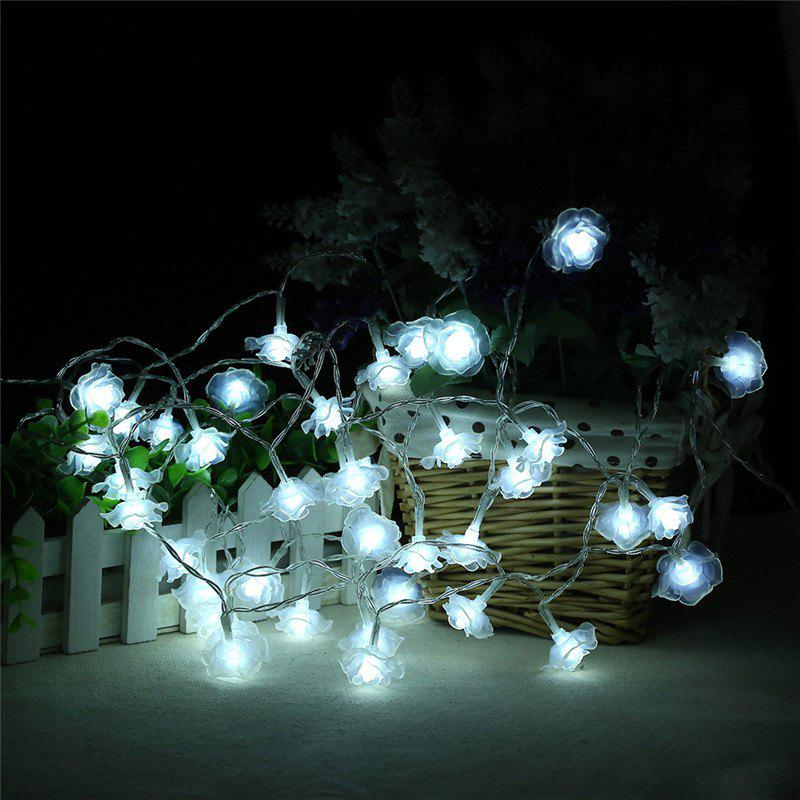 20-LED Rose Christmas Tree String Lights Decoration Colored LampHOME<br><br>Color: WHITE;