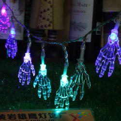 10-LED Halloween Skull-Head String Lights Decorated Colored Lamp -