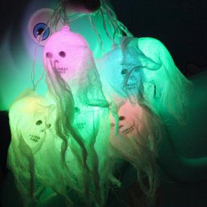 10-LED Halloween Ghost Skull String Lights Decorated Colored Lamp -