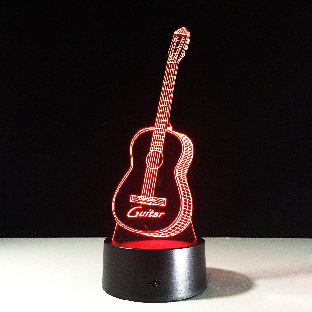 Yeduo New Action Figure 7 Colors Guitar 3D Visual Led Night Lights As Bedroom Table Lamp Best Gifts for Kids Friends AcrylicHOME<br><br>Color: COLORMIX;