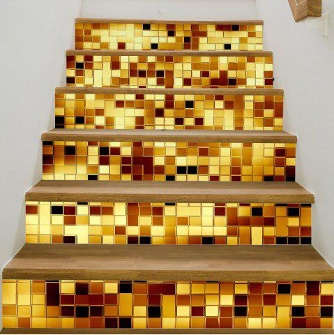 New Gold Mosaic Style Stair Sticker Wall Decor MIX COLOR 18 X 100CM X 6 PIECES