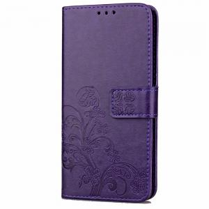 Yc Lucky Clover Holster Leaf Card Lanyard Pu Leather for Red Mi Note 4 -