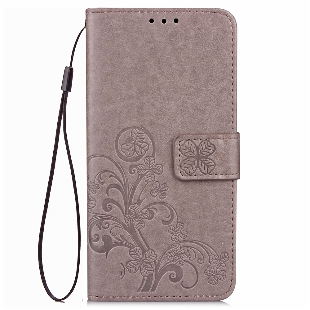 Cheap Yc Lucky Clover Holster Leaf Card Lanyard Pu Leather for Red Mi Note 4