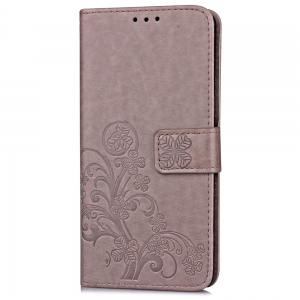 Yc Lucky Clover Holster Leaf Card Lanyard Pu Leather for Xiaomi Max -