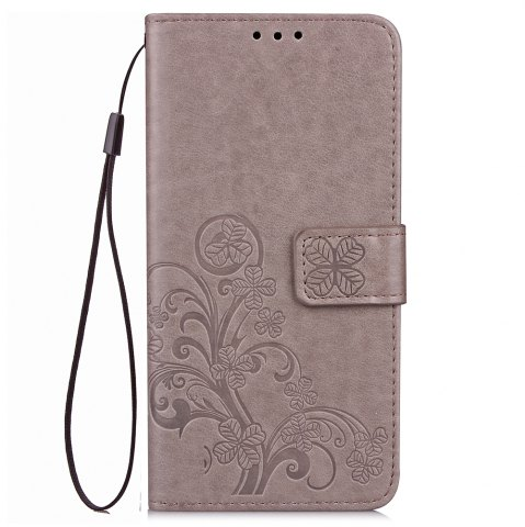 Unique Yc Lucky Clover Holster Leaf Card Lanyard Pu Leather for Xiaomi Max